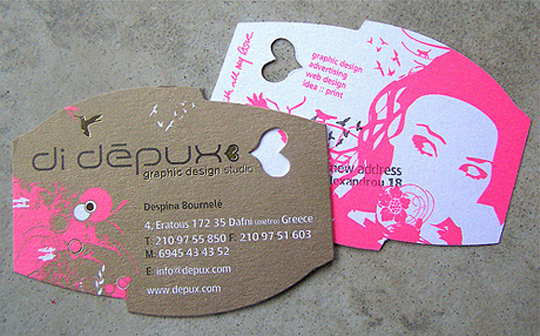 Di Depux's Uniquely Shaped Business Card