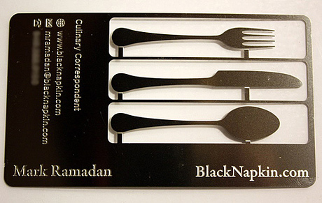 Black Napkin's Business Card