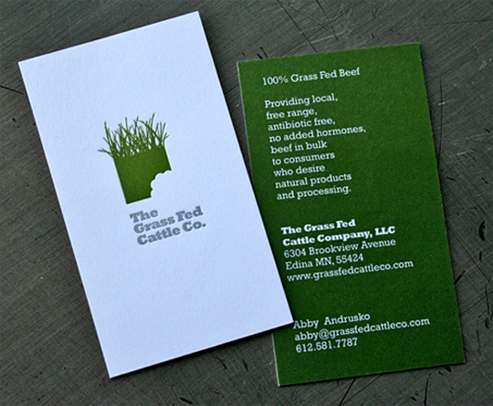The Grass Fed Cattle Company's Business Card
