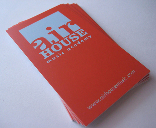 Airhouse Red Card Airhouses Simple Red Business Card