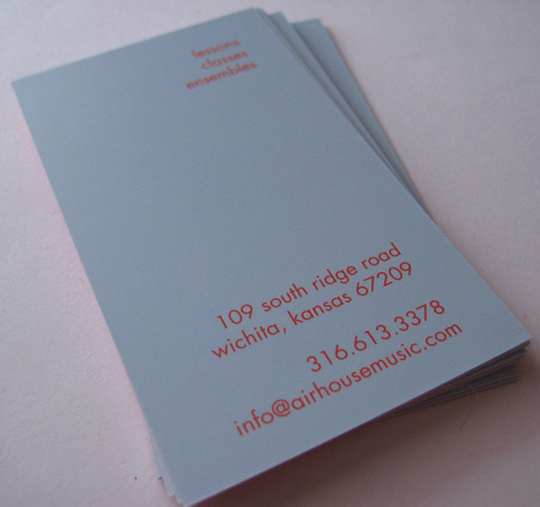 Airhouse's Simple Red Business Card