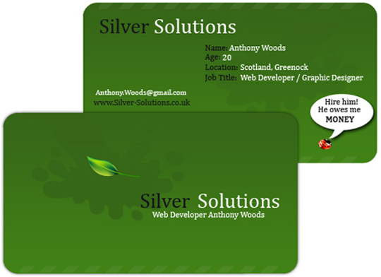 Anthony Wood's Creative Business Card