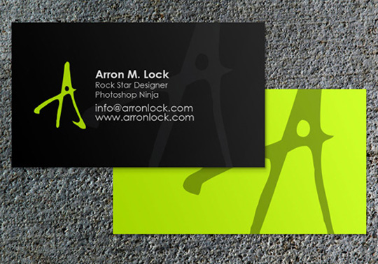 Arron Lock's Rockin' Business Card