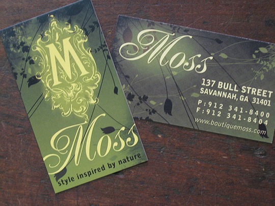 Botique Moss' Modern and Stylish Business Card