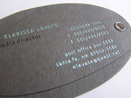 Clarissa Lovato's Elliptic Business Card