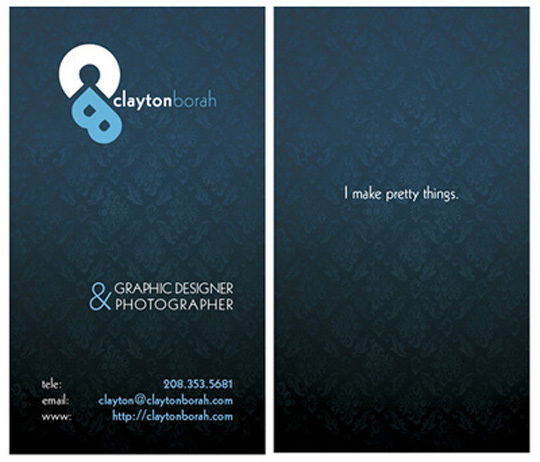 Post image for Cool Business Card – Clayton Borah