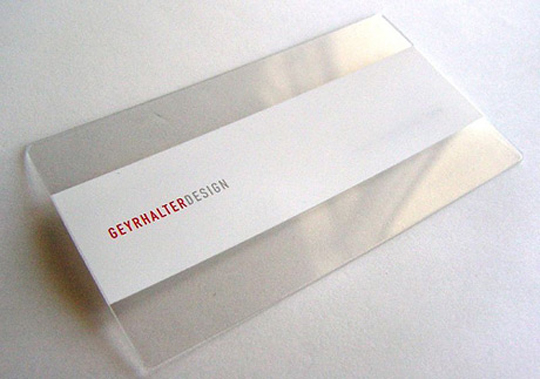 Post image for Geyr Halter Design's White,Clear Business Card
