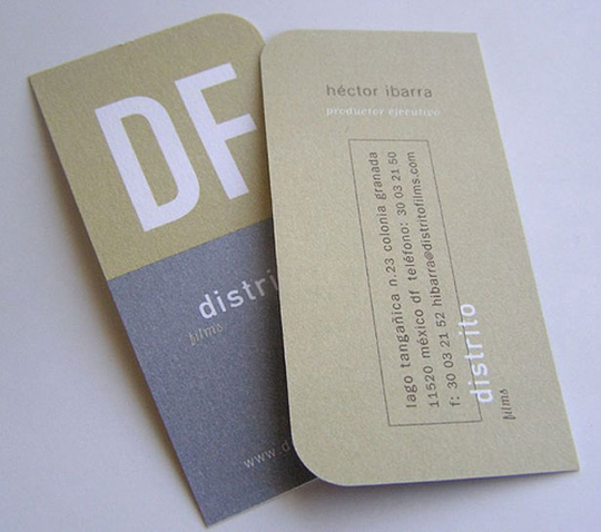 Hector Ibarra's Trimmed Business Card