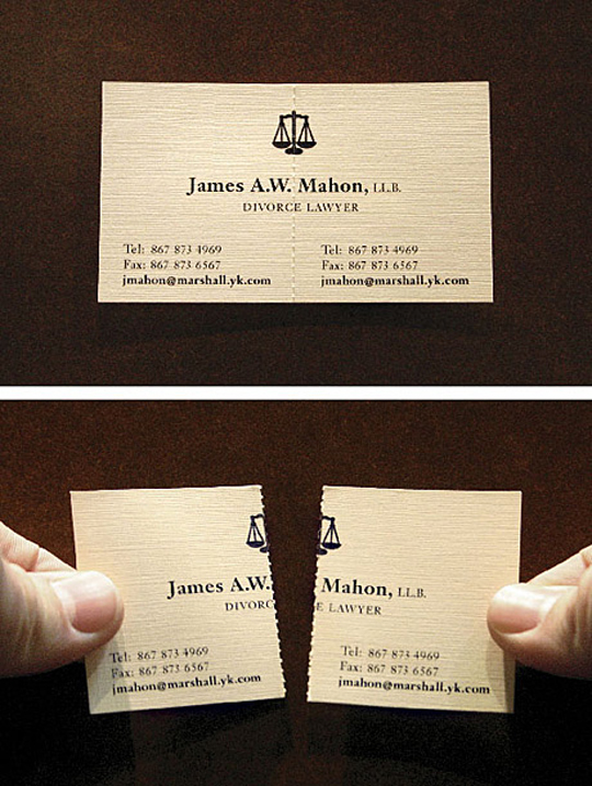 James Mahon's Two-Peice Business Card