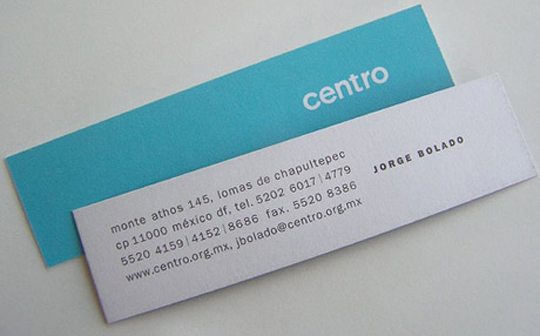 Jorge Bolado's Thin Business Card