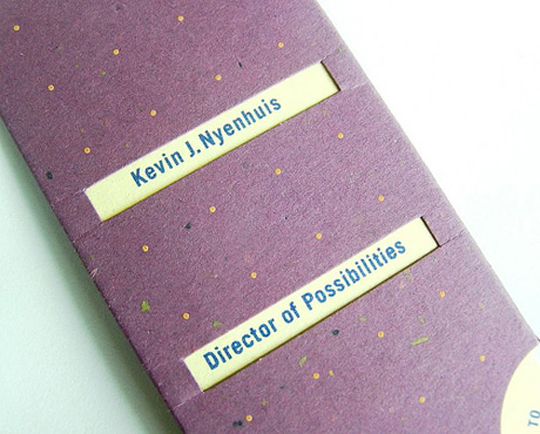 Kevin Nyenhuis' Envelope Business Card