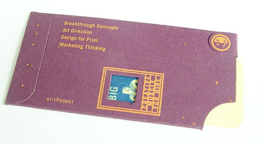 Unique Envelope Designed Business Card for Kevin Nyenhuis
