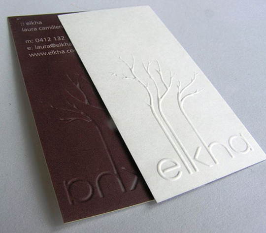 Laura Camilleri's Business card for Elkha