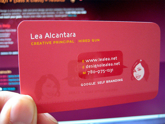 Lea Alcantara's Pink Business Card