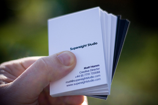 Matt Hamm's Minimalist Business Card