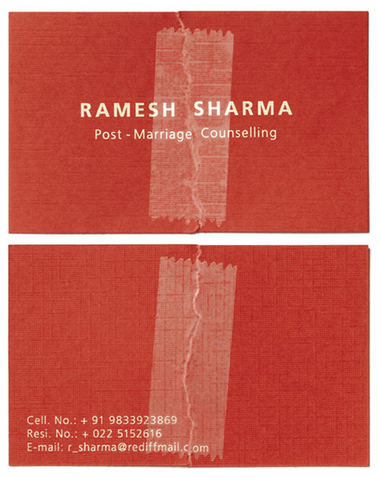 Ramesh Sharma's Patched Business Card
