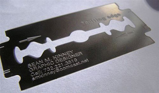 Sean Kinney's Razor Blade Business Card