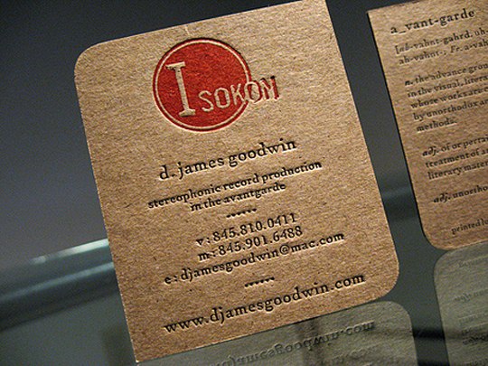 The Isokon's Business Card
