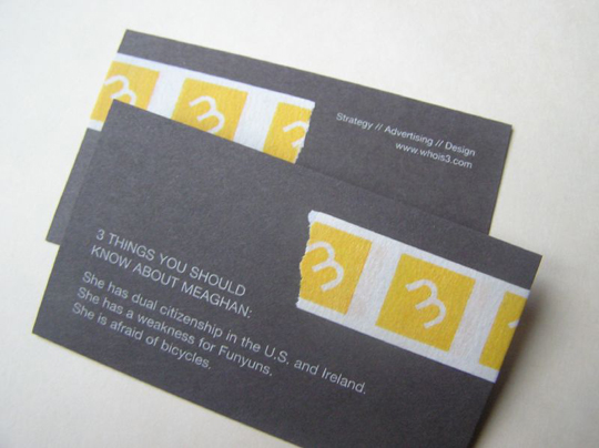 Three Advertising's Business Card