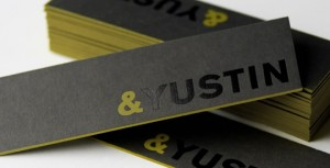 And Yustin Long by Cue 300x153 Less is More: 15 Clean & Simple Minimalist Business Cards