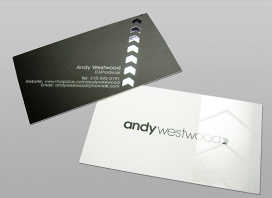 Andy Westwood's Business Card