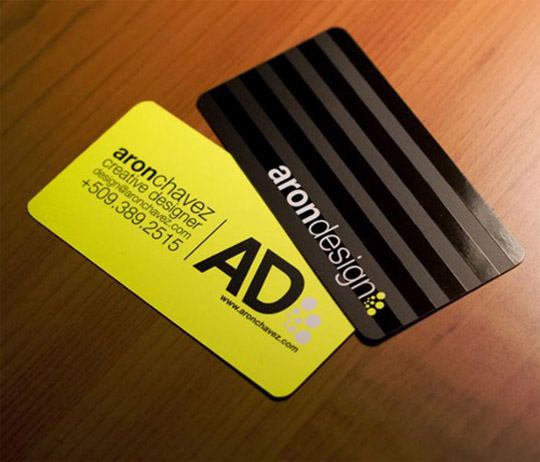 Post image for Aron Design&#8217;s Business Card