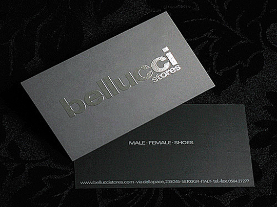 Post image for Bellucci stores Business Card