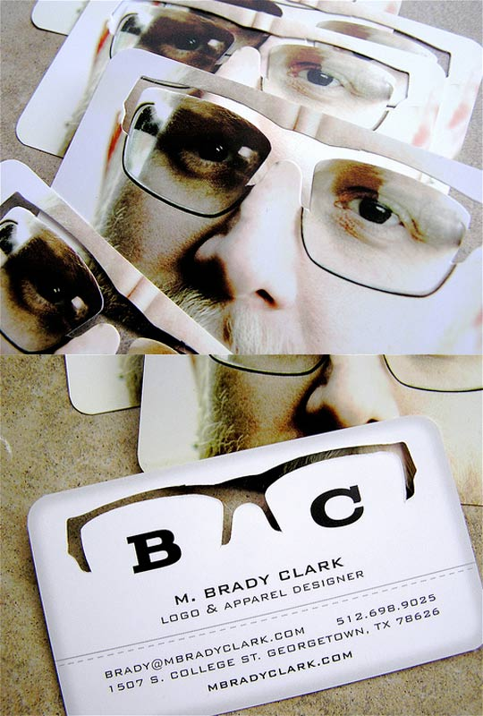 Post image for Brady Clark's Die Cut Business Card