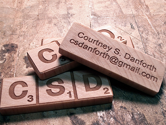 Courtney Danfoth's Unique Business Card