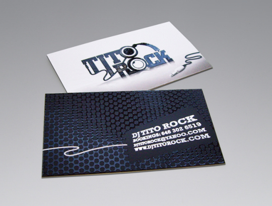 DJ Tito Rock's Business Card