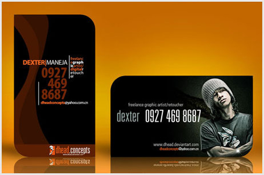 DHead Concepts Business Card