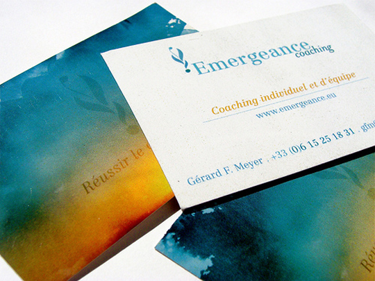 Emergeance Coaching's Artful Business Card