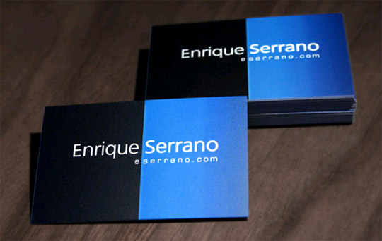 Post image for Enrique Serrano's Simple Business Card