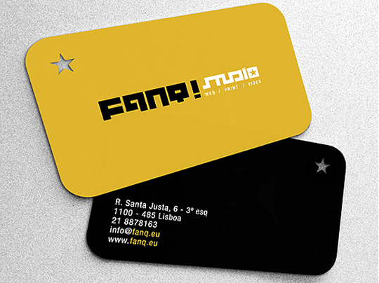 Fanq's Die Cut Business Card