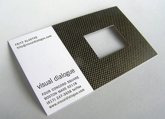 Visual Dialogue's Unique Business Card