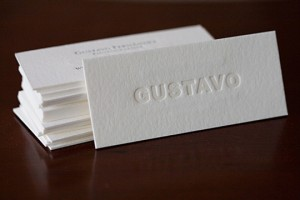 Gustavo Fernandez by Dolce Press 300x200 Less is More: 15 Clean & Simple Minimalist Business Cards