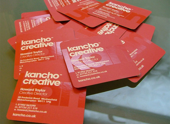 Kancho Creative's Textured Business Card