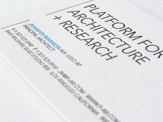 Platform Architecture Research's Business Card