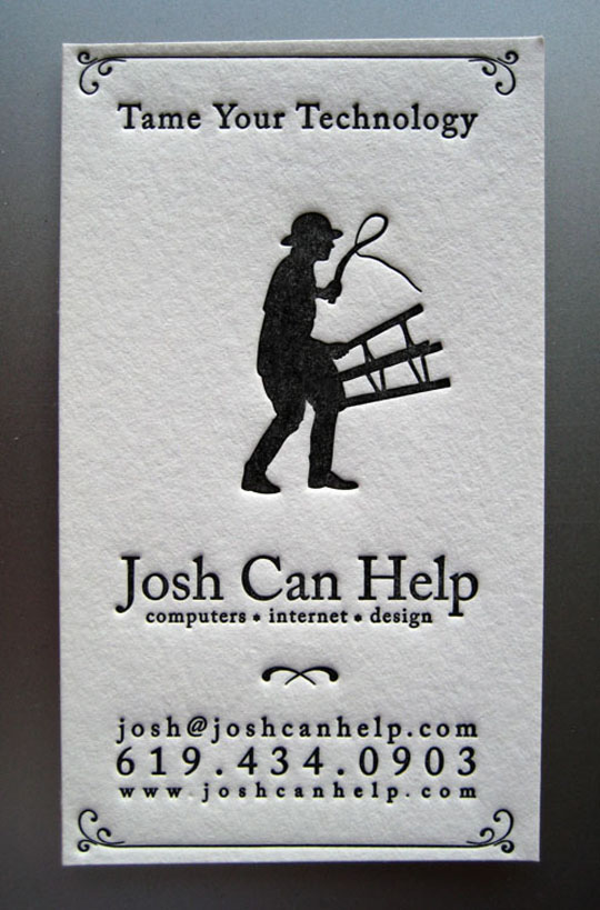 Josh Can Help's Creative Business Card