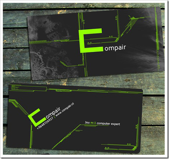Compair's Cool Hi-Tech Business Card