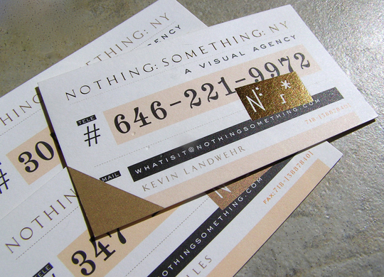 Post image for Nothing Something Business Card