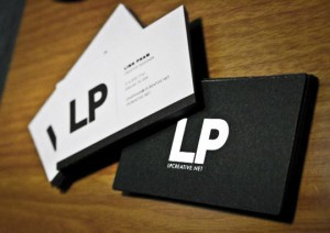 LP Creative Net Minimalistic Business Card 300x212 Less is More: 15 Clean & Simple Minimalist Business Cards