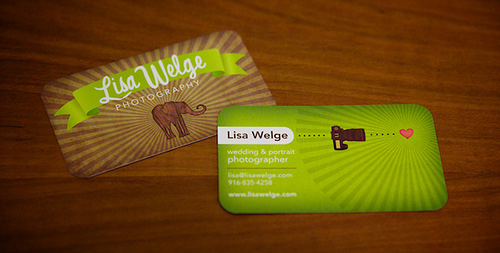 Lisa Welge's Business Card