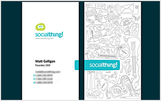 Matt Galligan's Business Card for Social Thing
