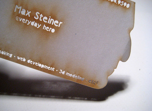 Max Steiner's Business Card