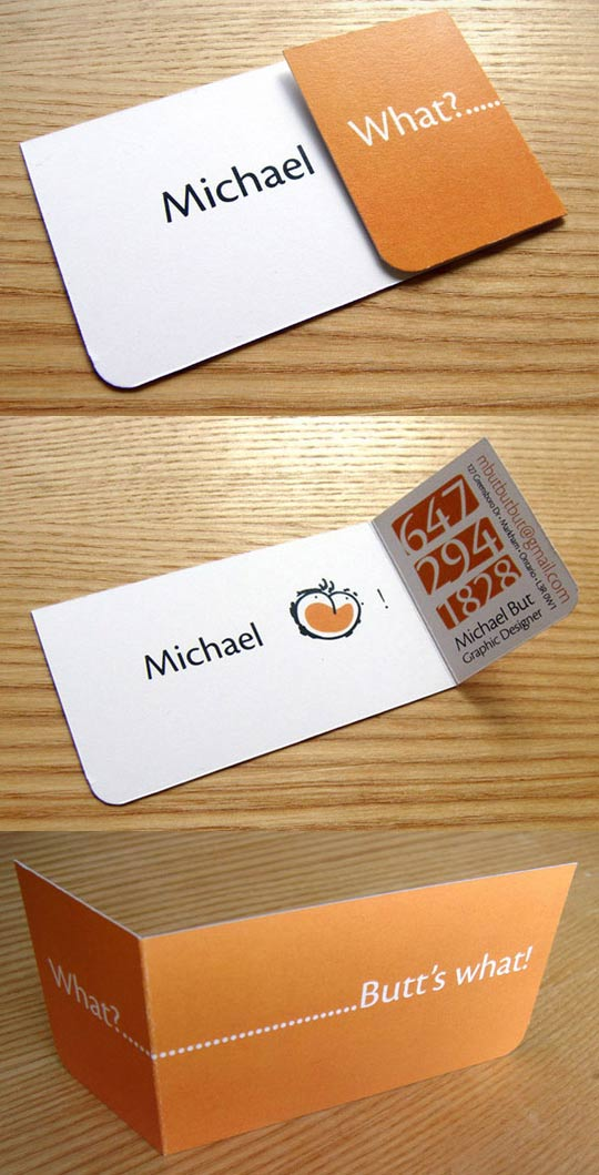 Michael But's Business Card