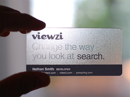 Viewzi's Transparent Business Card