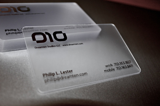 Dream Ten Studio's Business Card