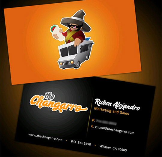The Changarro's Full Color Business Card