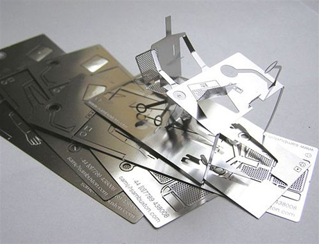 Sam Buxton Popup Metallic Business Card Metal Business Card by Sam Buxton